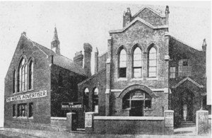 The Herts Advertiser based in the old Upper Dagnall Street building. Note the 1888 schoolroom to the left of the picture. (picture from Herts Advertiser)