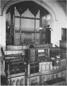 The interior of the church in 1948