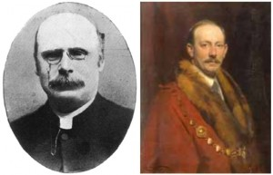 Rev Joseph Jackson Superintendent Minister 1896-1900 (left) and Ezra Dunham, Mayor of St Albans 1911 by Frank O. Salisbury © St Albans Museums Service (right)